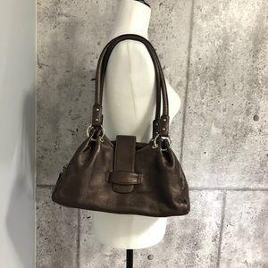 Derek Alexander Bronze Leather Shoulder Bag